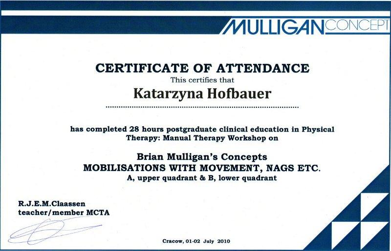 Leczenie ruchowe wg Mulligana